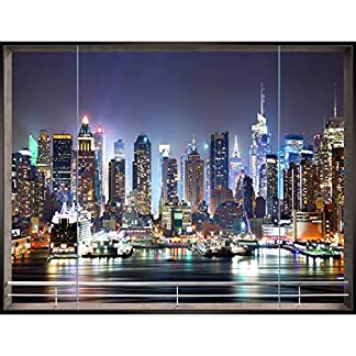 Papel Pintado Fotográfico New York 308 x 220 cm Tipo Fleece no-trenzado Salón Dormitorio Despacho Pasillo Decoración murales decoración de paredes moderna – 100% FABRICADO EN ALEMANIA – 9026010b