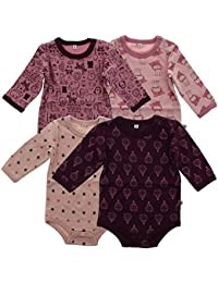 Pippi Body Ls Ao-Printed (4-Pack) - Body para niñas