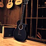 JJOnlinestore?Juego de guitarra acústica color negra, tamaño de 3/4, 97 cm, para alumnos y niños, principiantes, estudiantes, de 6cuerdas, para regalo de Navidad o cumpleaños