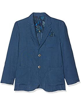 Hackett London Washed Linen B, Chaqueta para Niños, Azul (Blue 551), Talla única (Talla del Fabricante: K07)