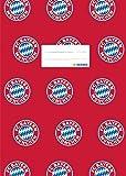 Herma 19078 - Funda decorativa para cuaderno (tamaño A4), diseño de FC Bayern München, color rojo