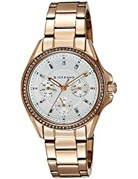 Giordano Analog Silver Dial Women's Watch - 2721-33