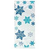 Shatchi 6274-CELLO-BAG-SNOWFLAKE-CLEAR 20 Navidad Copo de