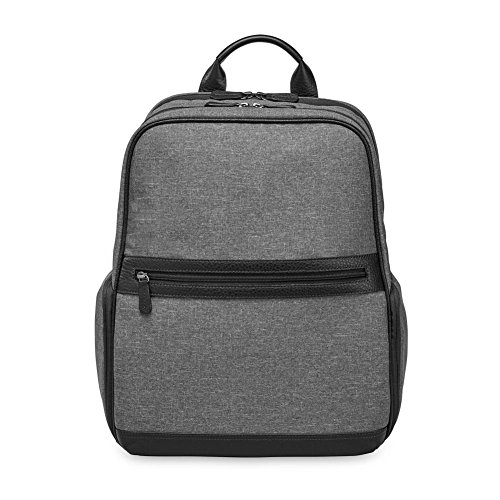 Levenger AM3015 GY Large Comfortable Urbanite Backpack, Gray