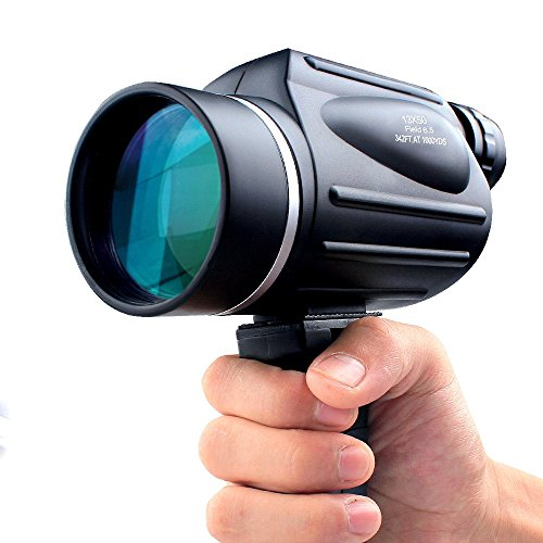 USCAMEL® - 13x50 Powerful Monocular - Bright and Clear Range of View - Travel and Sports Bird Watching Telescope - Black