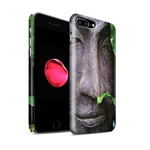 STUFF4 Matte Snap-On Hülle / Case für Apple iPhone 8 Plus / Stein Buddha Muster / Innerer Frieden Kollektion Zen Statue
