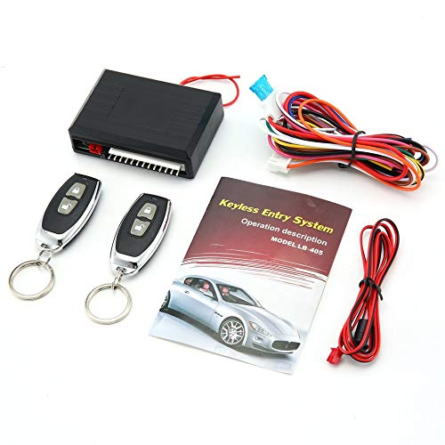 LB-405 Universal Car Kit Remote Control Central Door Lock Keyless Entry System Black - Car Kit Remote-control