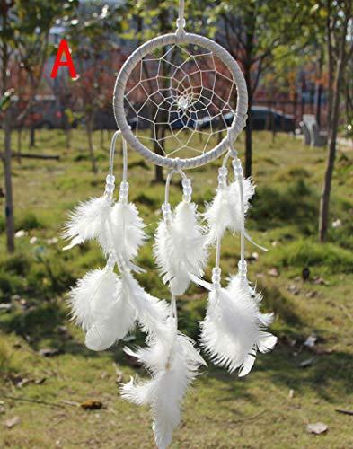 Traumfänger Dream Catcher Haus Wandbehang Dekoration Ornament Kaiki Traditionelle Wandbehang American Indian Traumfänger Home Decor Vielen Farben,14 Weiß (Indian Home Decor)