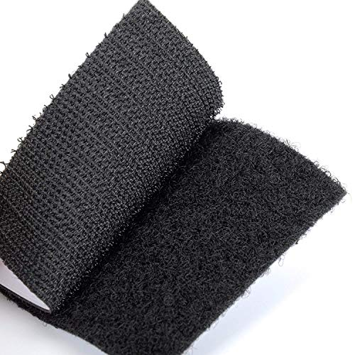 12 STÜCKE Industrie klettband selbstklebend extra stark,kleben statt bohren Starke Klettverschluss, Doppelseitig Klebend Harmlos für Wände und Boden, Tür, Gläser, Metalle, Spiegel (Platz 60mm)
