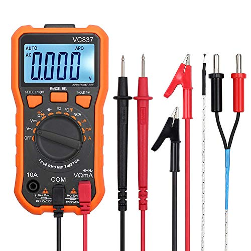 Multimetro Digital 6000 Cuentas TRMS Voltimetro Amperimetro Ohmimetro Para NCV DC AC Voltage Corriente Resistencia Temperatura Capacitancia Diodos Transistor Continuidad Prueba de Duty Radio