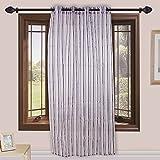 Homefab India 1 Piece Sheer Strips Door Curtain - 7ft, Purple