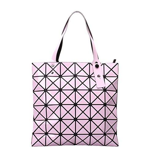 Frauen Paket Geometrische Umhängetasche Handtasche Pink