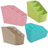 Mahaware Plastic Multipurpose Desk Organizer (Random)