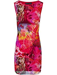 22d0a784049ae Robe Droite Femme Resille Chic Rose Imprime Marina