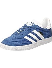 adidas Gazelle Super, Baskets Basses Homme, Bleu (Blue/Vintage White/Gold Metallic), 39 1/3 EU