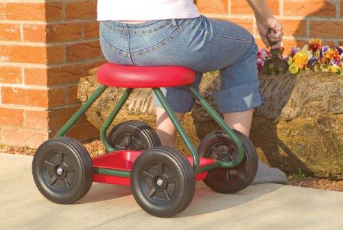Nrs healthcare m sgabello da giardino con ruote