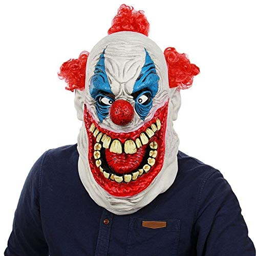 ZHANGDONGLAI Kürbis Themen Ornamente Gruselige Maske Halloween Simulation Clown Maske for Halloween Special Holiday Party Dekoration (Color : F) (Clown Themen Für Halloween)