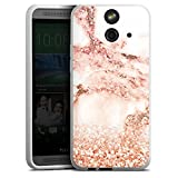 HTC One E8 Silikon Hülle Case Schutzhülle Marmor Muster