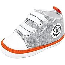 YanHoo Zapatos para niños Zapatillas de Deporte de bebé recién Nacido con Estampado de fútbol y