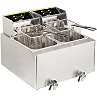 Buffalo doble freidora, 2.9 kW 452 x 550 x 595 mm acero inoxidable cocina Catering