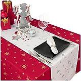 MODERNO Lurex Sterne Servietten 40x40 cm (6 er Set) Weiss Silber, Weihnachtsservietten Größe und Farbe wählbar (Gold, Silber oder Rot glänzend) - 3