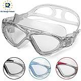 Occhiali da Nuoto per Adulto Anti Nebbia Nessuna Fuoriuscita Visione Chiara UV Protezione Facile da Regolare Professionale + Comodo per Uomo e Donna (Gray/Clear Lens)