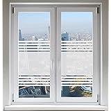 INDIGOS UG Folie für Duschkabine Bad Fensterfolie Dusche Glasdekorfolie Sichtschutzfolie Streifendesign satiniert blickdicht ORACAL® - 1200mm Breite x 500mm Höhe - auch mit Individueller Breite