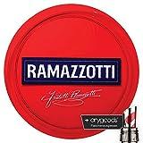 Ramazzotti Glas/Gläser Tablett Servier Kellner gummier Gastro Bar Deko NEU + anygoods Flaschenausgiesser