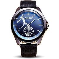 harrystore Uomo Casual Fashion personalità di business cintura orologio, Black, 26cm