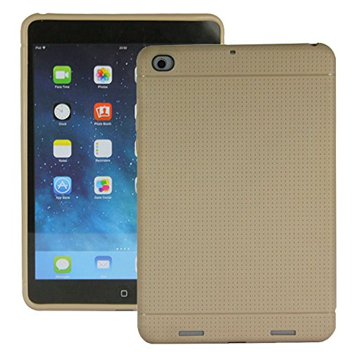 Heartly New Retro Dotted Design Hole Soft TPU Matte Bumper Back Case Cover For Xiaomi Mi Pad 2 / Mi Pad 3 - Mobile Gold