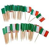 100Pcs Mini Flag Toothpick Italia Bandiera Torta Pick Eventi Internazionale Del Cocktail Bastone Bandiera Frutta Cibo Raccogliere