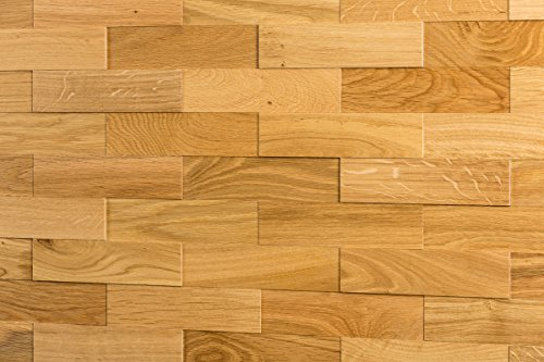 wodewa Wandverkleidung Holz 3D Optik Eiche Natur 1m² Wandpaneele Moderne Wanddekoration Holzverkleidung Holzwand Wohnzimmer Küche Schlafzimmer Geölt