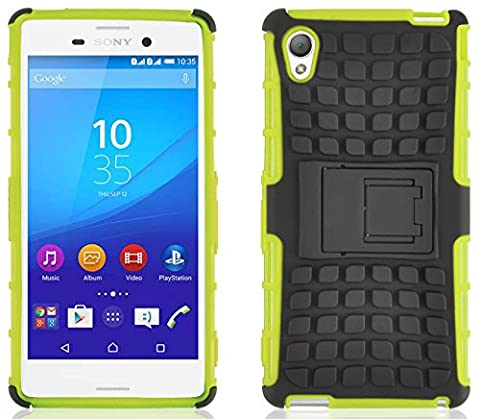 Coque Xperia M4 Aqua Coque incassable | JammyLizard | [ ALLIGATOR ] Coque rigide back cover incassable anti choc coque pour Sony Xperia M4 Aqua, citron