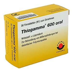 Thiogamma 600 oral Boîte de 30 comprimés pelliculés