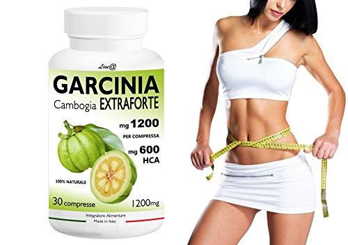 GARCINIA CAMBOGIA EXTRAFORTE 1200mg per compressa - 30 CPR - 100% PURE (600mg HCA per cpr) 100% NATURALE Bruciagrassi/Fame Nervosa/Ottimo alleato delle Diete!!! Prodotto ITALIANO
