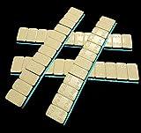 50 KLEBEGEWICHTE 12x5g Auswuchtgewichte 3Kg mit Abrißkante Kleberiegel BESCHICHTET