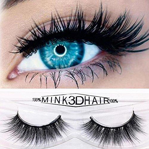 Wimpern,MEIbax 3D Falsche Wimpern Flauschigen Streifen Wimpern Lange