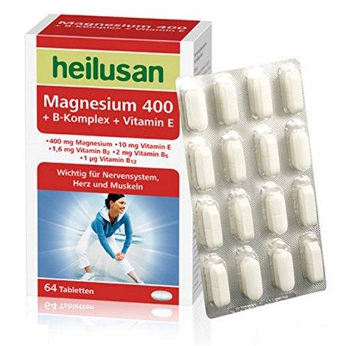heilusan Magnesium 400 + B-Komplex + Vitamin E 64 Tabletten