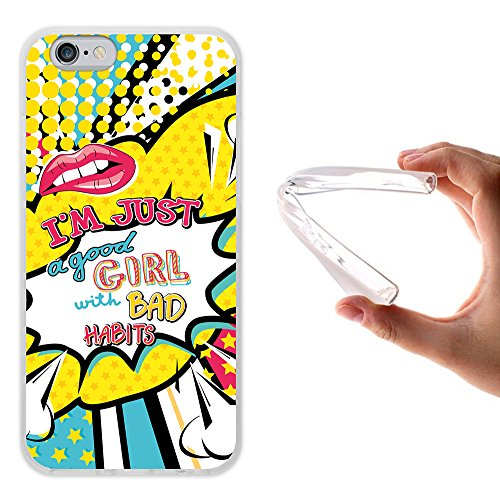 iPhone 6 6S Hülle, WoowCase Handyhülle Silikon für [ iPhone 6 6S ] Kosmischer Lippensatz - Good Girls do Bad Things Sometimes Handytasche Handy Cover Case Schutzhülle Flexible TPU - Transparent Housse Gel iPhone 6 6S Transparent D0455