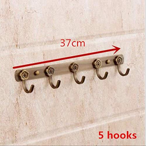 MLACOBD Drying rackVintage Wand Haken Bronze Wand montiert Wand Barsch Kleidung Mantel Hut Tasche Haken zu hängen Home Organizer Badezimmer Zubehör 5 Haken -