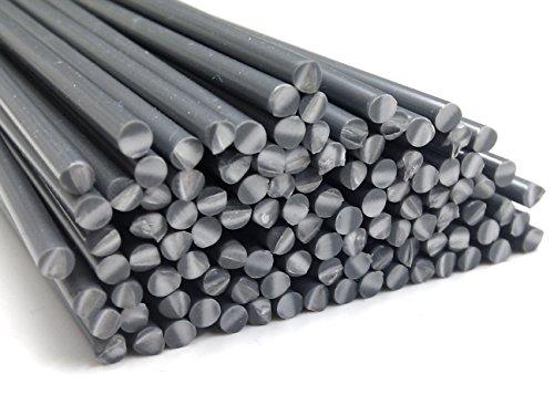 Preisvergleich Produktbild Kunststoffschweißdraht PVC-U Hart 3mm Rund Grau 25 Stäbe