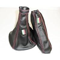 Alfa Romeo MITO cuffia cambio e freno a mano in vera pelle con ricamo