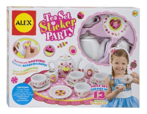 (Alex Toys Kinder Tee-Set Party mit Dekorieren Sie selbst, Aufkleber (13Stück))