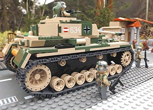 Modbrix 2508 – ☠ Bausteine Panzer IV Ausf. F1 Totenkopf Division inkl. Custom Elite Wehrmacht Soldaten aus Lego© Teilen ☠ - 3