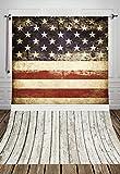 NIVIUS PHOTO 150*220cm HOT SALE USA Flagge Patriotischer Fotografie Kulissen für Kinder Baby Familie weißen Boden Fotohintergründe D-088