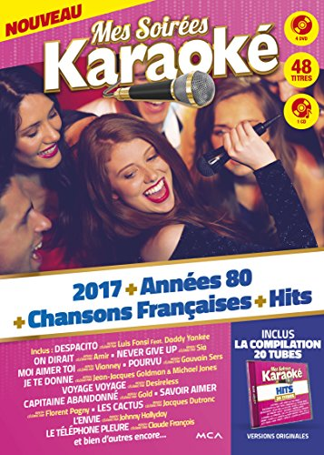 Coffret karaoké 4 DVD + 1 CD : 2017 vol 1 + 80 vol 1 + CF vol 1 + Hits vol 2
