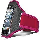 N4U Accessoires - Brassard de marche / de course / de sport - Support de smartphone - Sangle Réglable - Rose Indien - Pour Samsung I9100 Galaxy S2