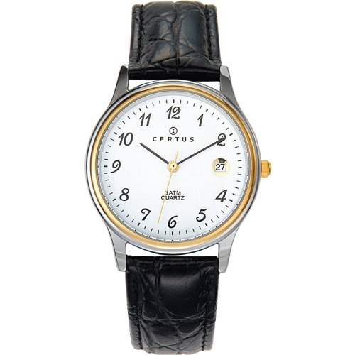 Certus Unisex Analogue Watch with White Dial Analogue Display - 611216