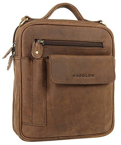 Harold's Antik / Antico Flugtasche Herrenumhängetasche 5 natur