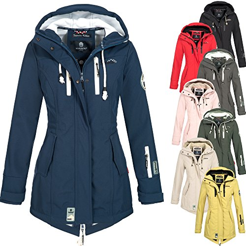 Marikoo Damen Softshell Winter Jacke Softshelljacke Winterjacke Regenjacke wasserabweisend Regen Outdoor Zimtzicke XS-XXL 8-Farben